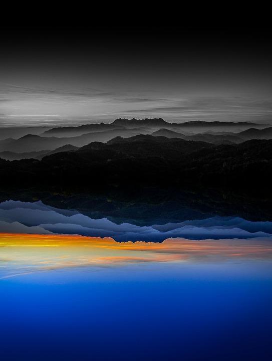 Black White, Sunset, Nature, Evening, Landscape, Sky