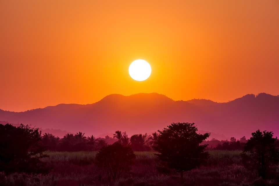 Sunset, Hill, Mountain, Sunset Landscape, Outdoor