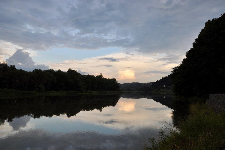 River, Sunset, Nature, Poland, Landscape, Water