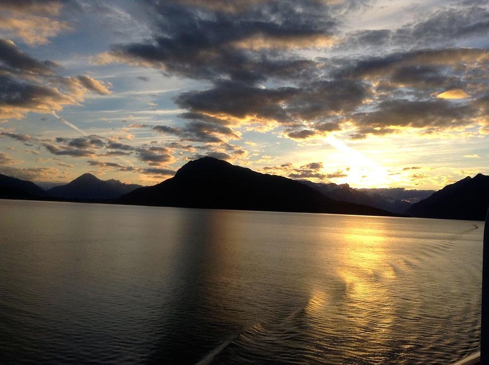 Alaska, Sunset, Nature, Travel, Sky, Water, Landscape