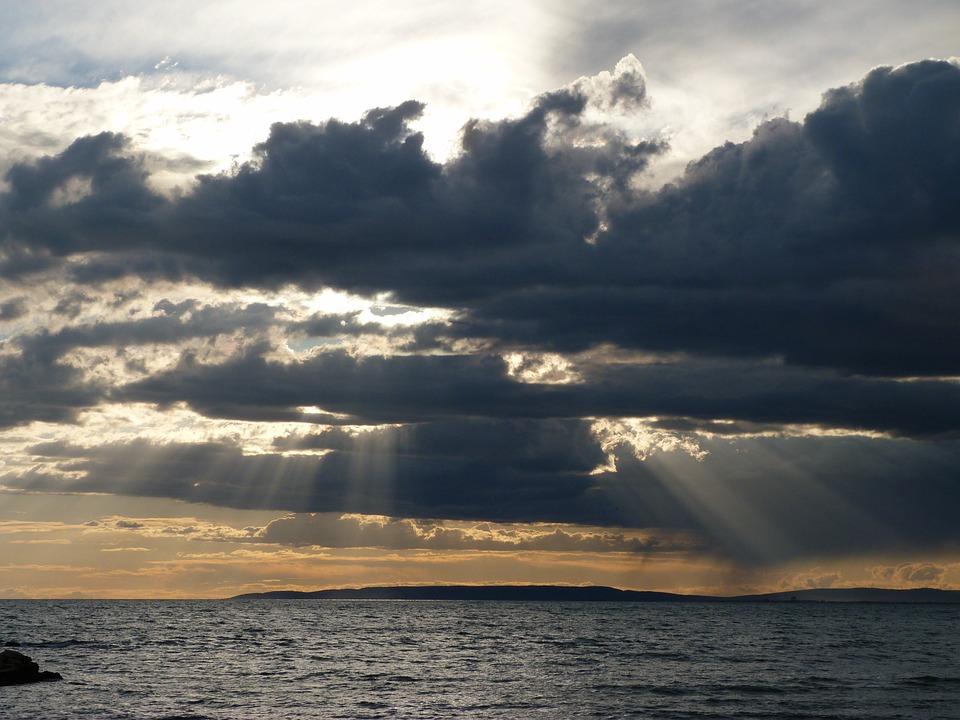 Landscape, Nature, Sky, Clouds, Water, Sunset, Light