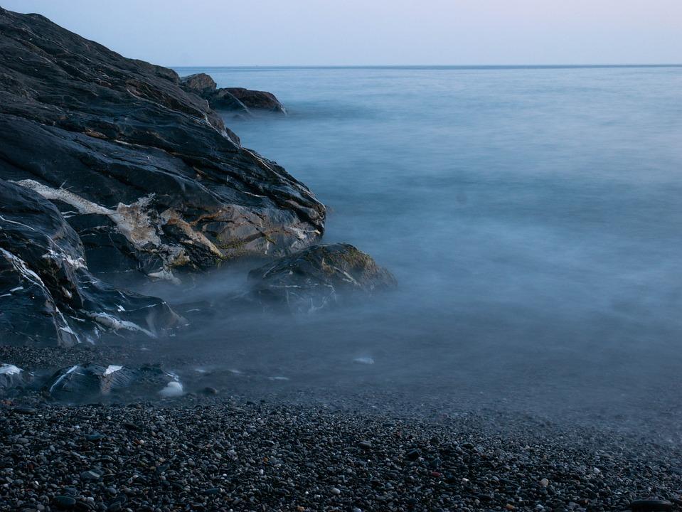 Long Exposure, Sea, Sunset, Landscape, Costa, Rocks