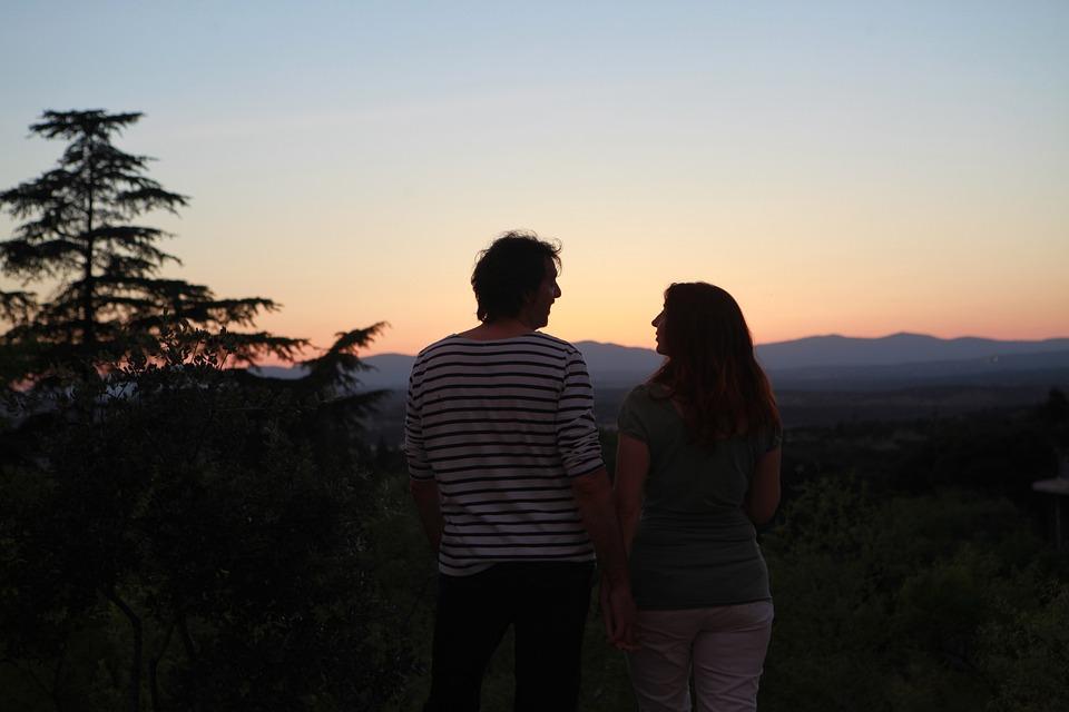 Couple, Love, Sunset, Friendship, Watching Sunset
