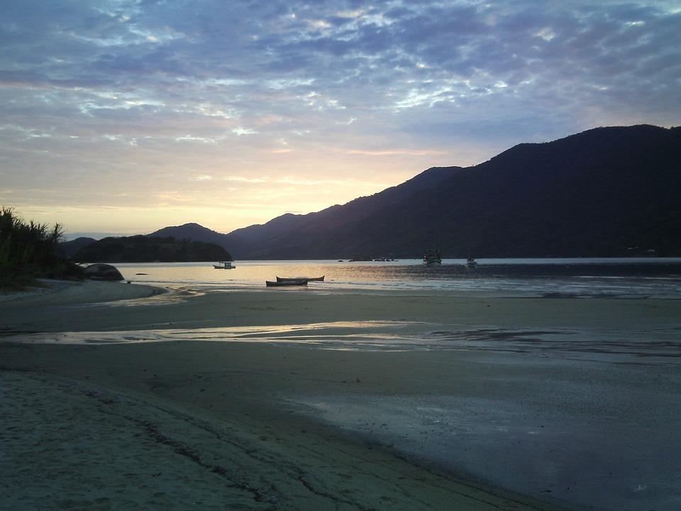 Sunset, Beach, Mar, Mamanguá