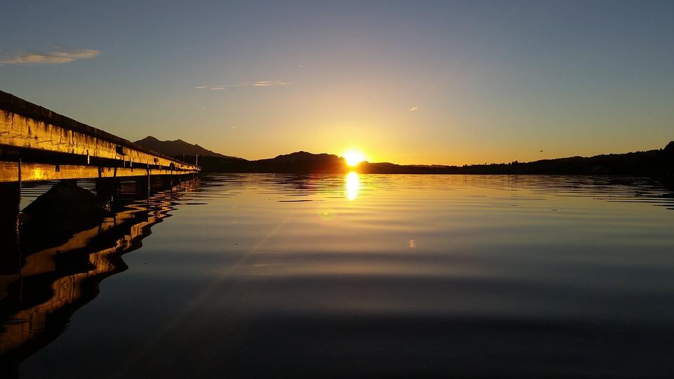 Sunset, Web, Wave, Mirroring