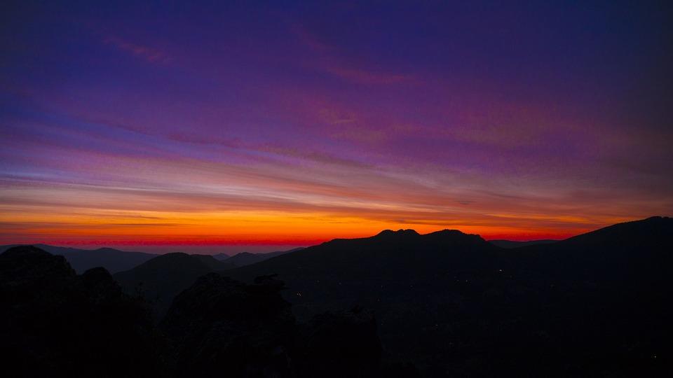 Dawn, Mountains, Sunset, Landscape, Nature, Mountain