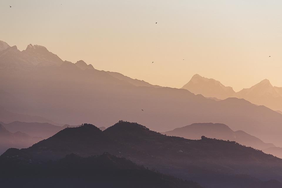 Mountains, Sunset, Evening, Tourism, Travel, Adventure