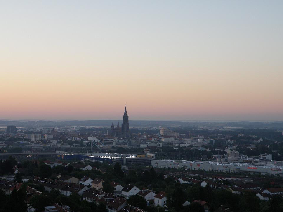 Ulm, Sunrise, Sunset, Outlook, Münster