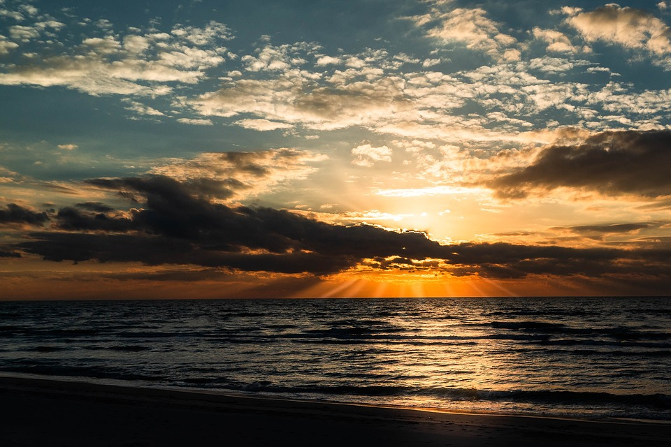 West Beach, Baltic Sea, Ahrenshoop, Sunset, Nature