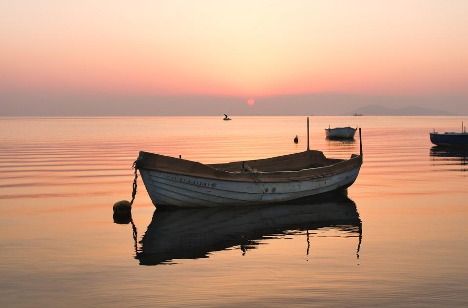Boat, Barco, Water, Sea, Nature, Landscape, Sun, Sunset