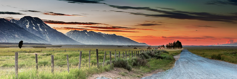 Panoramic, Nature, Landscape, Dawn, Sunset