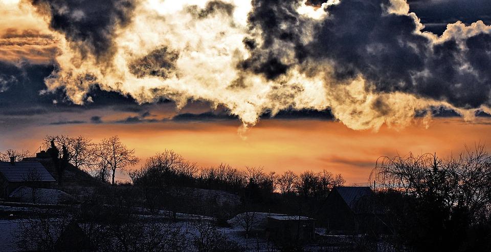 Sunset, Mood, Romantic, Nightfall, Nature