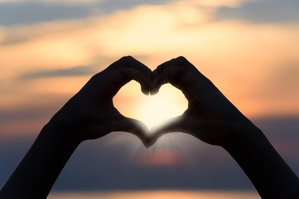 Heart, Love, Sunset, The Sun, Sky, Shape, Nature, Sign