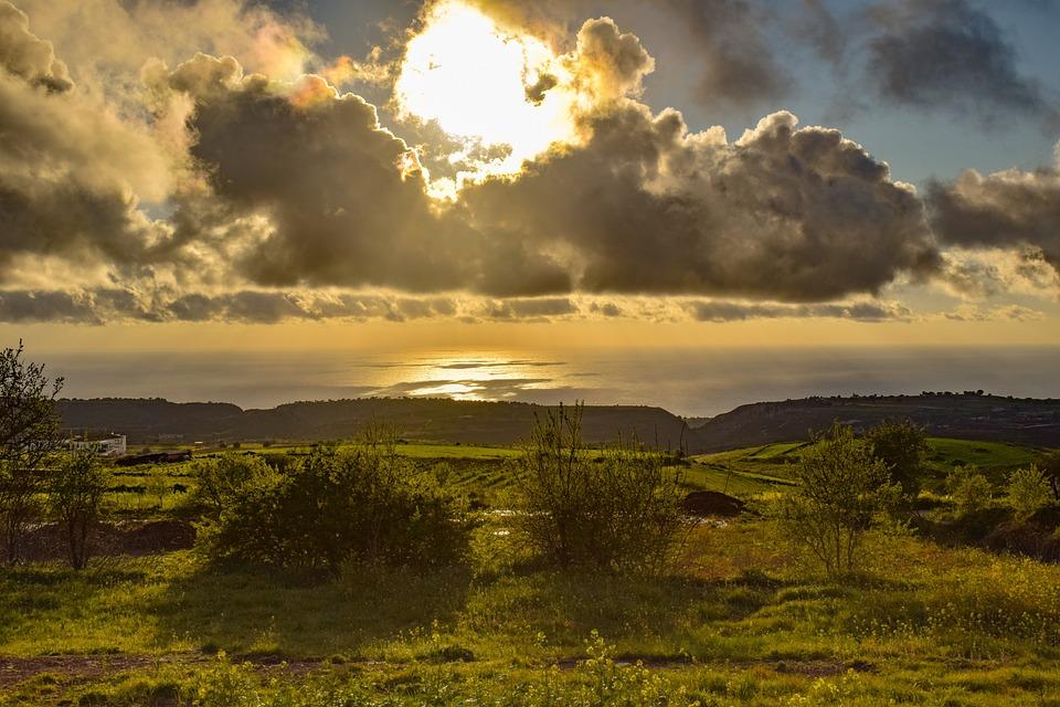 Landscape, Sky, Clouds, Sea, Sunset, Horizon, Nature
