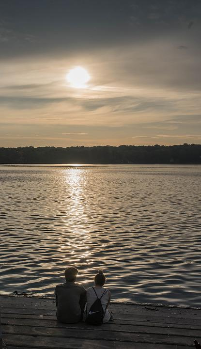 Sunset, Waters, Sun, Lake, Nature, Sky, River, Dusk