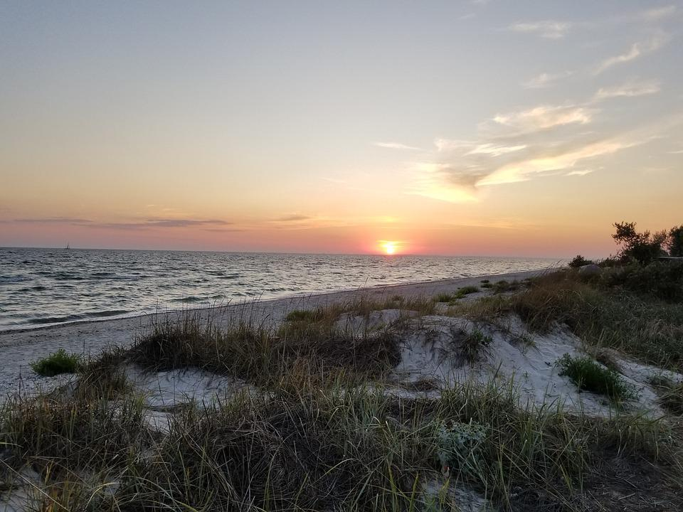 Sunset, Sea, Water, Beach, Sunrise, Nature, Clouds