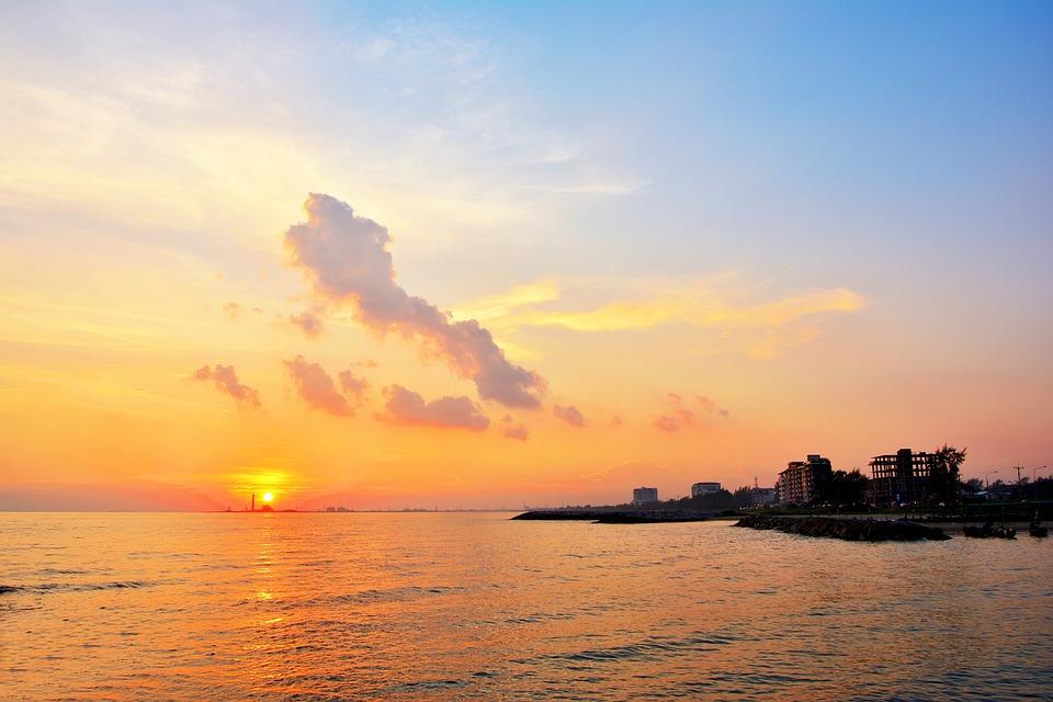 Sea, Nature, Sunset, Ocean, Silhouette, Season, Summer