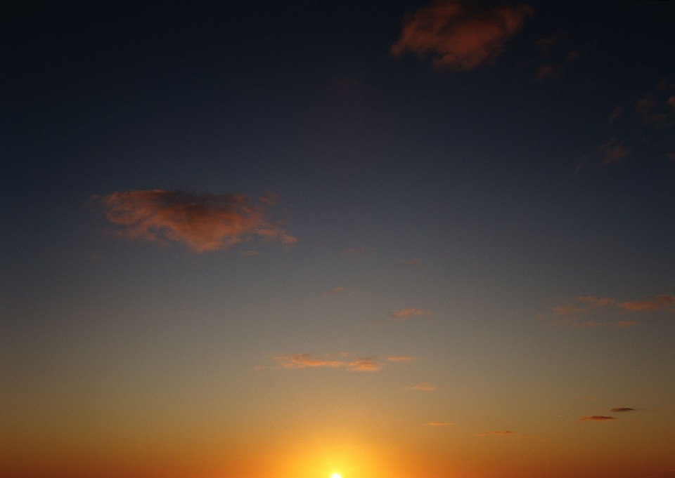 The Scenery, Sunset, Day, Orange, Evening Sky