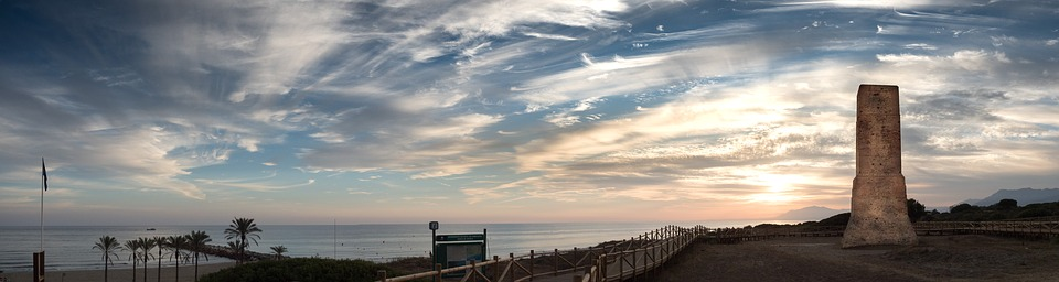 Panoramic, Sunset, Cabopino, Marbella, Malaga, Spain