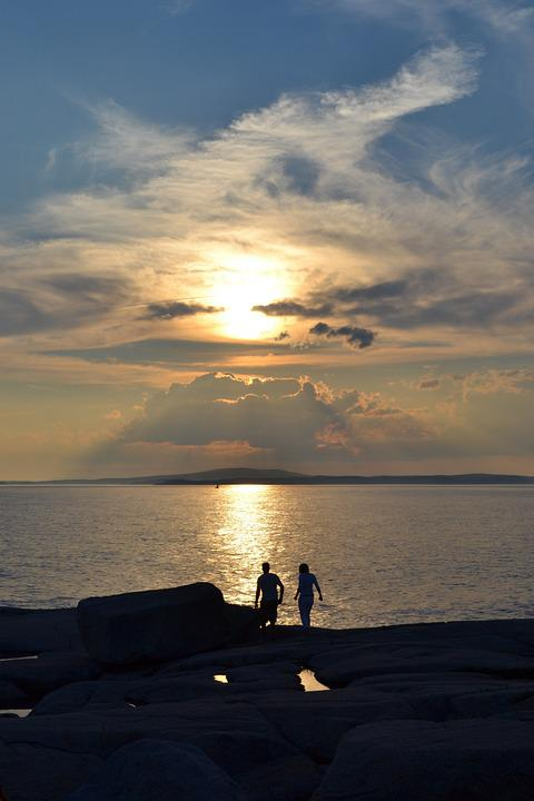 Sunset, Peggy's Cove, Nova Scotia, Ocean