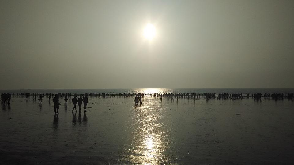 Beach, People, Sunset
