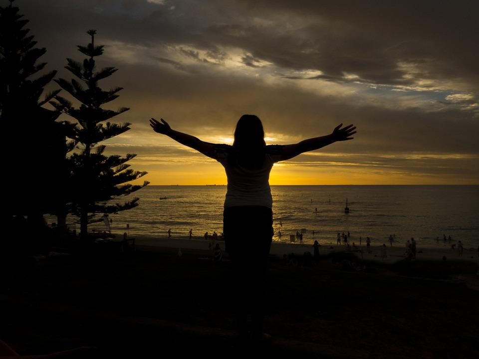 Silhouette, Cottesloe, Perth, Sunset