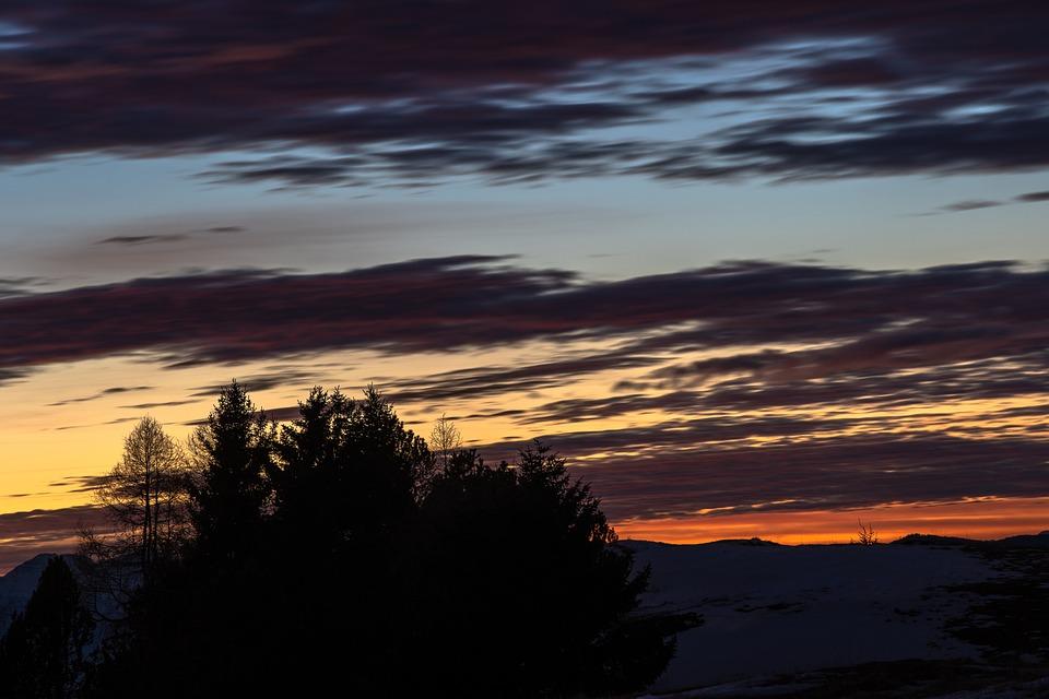 Sunset, Piccole Dolomiti, Veneto, Outdoors, Winter