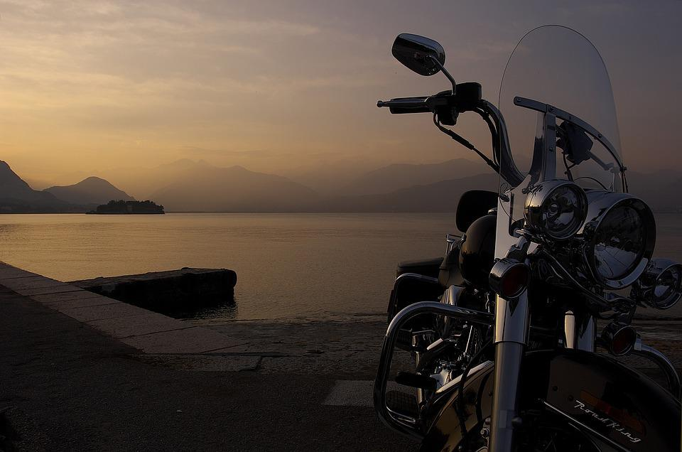 Harley, Road King, Italy, Sunset