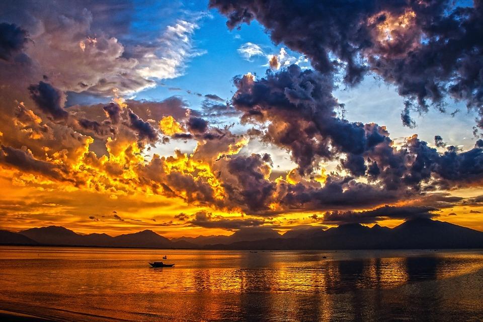 Sea, Sunset, Boat, Sailing, Dusk, Silhouette, Ocean