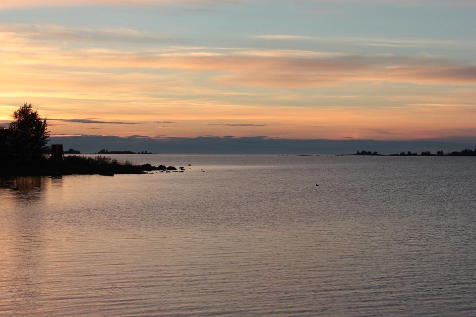 Sunset, Sea, Evening