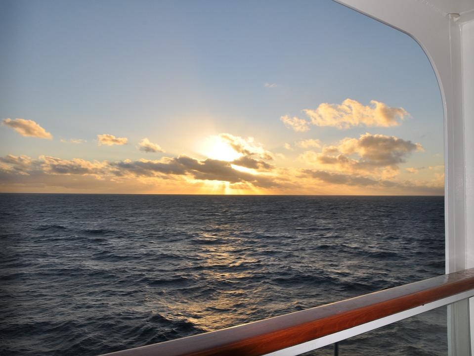 Sunset, Cruise, Sea, Golden Sunset, Sky, Warm, Clouds