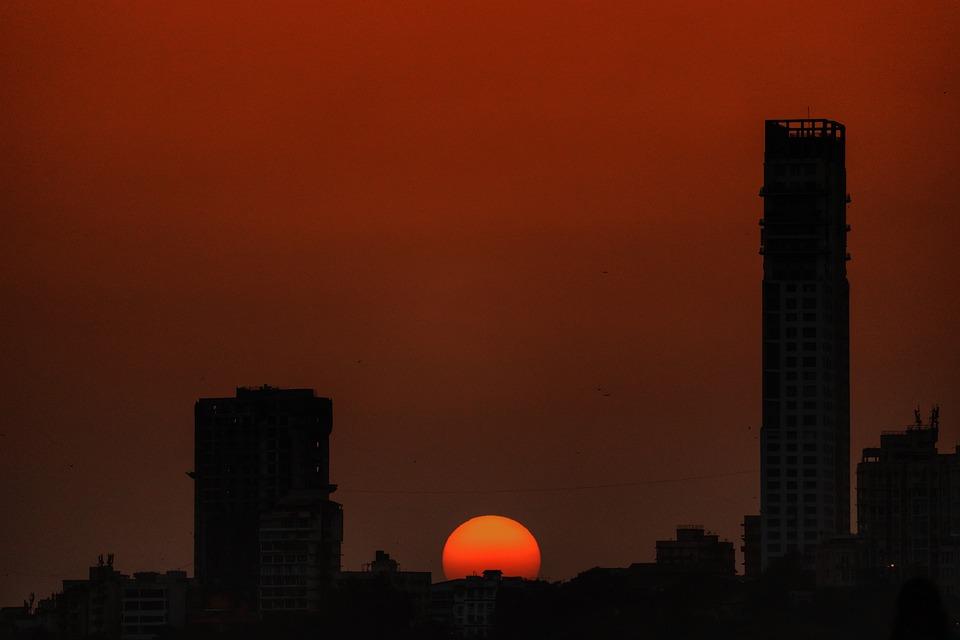 Sunset, Marine Drive, Mumbai, Shadow