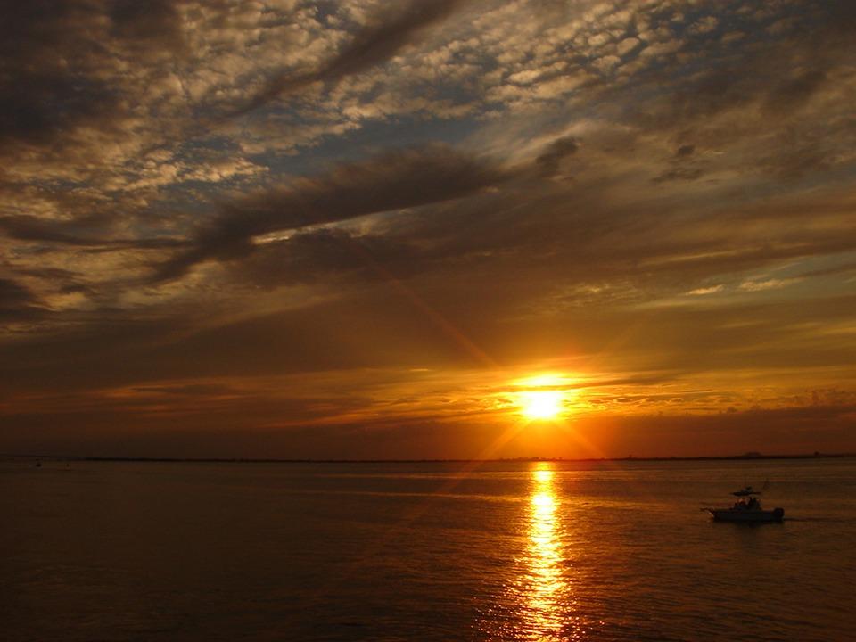 Sunset, Sea, Ocean, Sky, Clouds, Beautiful, Nature