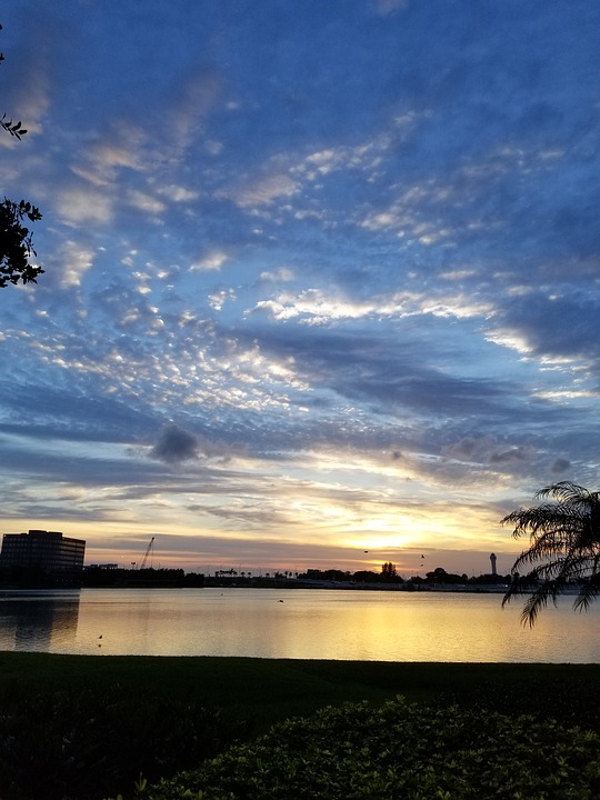 Sunset, Sky, Landscape, Sunrise, Clouds, Evening, Sea