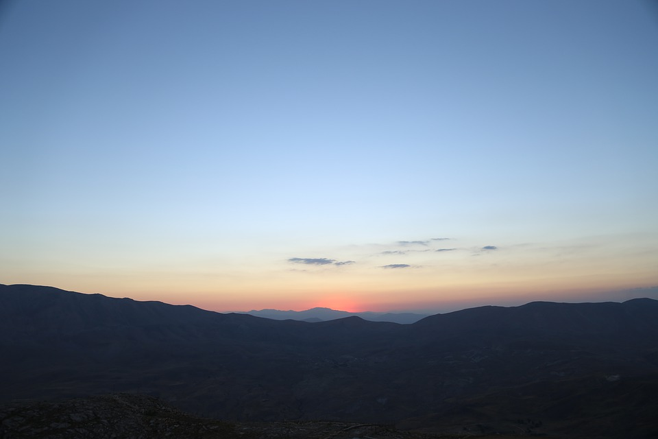Mountains, Sunset, Sky, Sunrise, Dusk, Dawn, Twilight