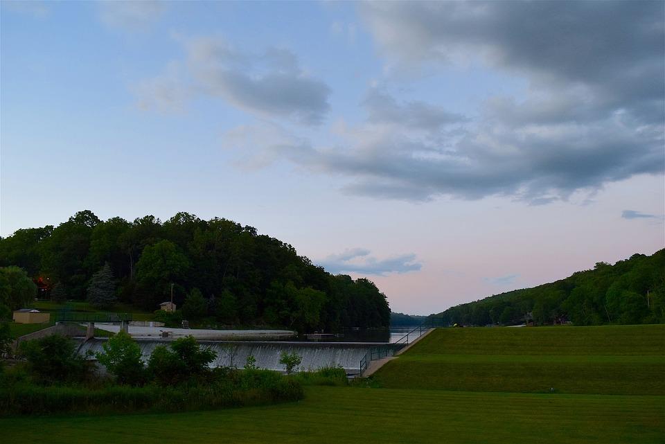 Field, Sky, Sunset, Clouds, Nature, Landscape, Mountain