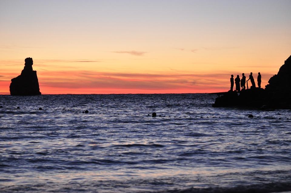 Ibiza, Beach, Sunset, Dusk, Afternoon, Sky, Sea