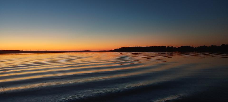 Sunset, Lake, Sky, Nature, Landscape