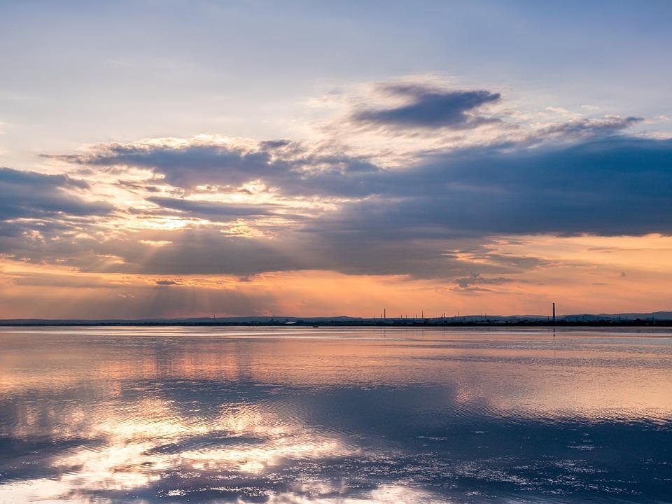 Sunset, Sunrise, Lake, Nature, Sun, Sky, Summer, Bright
