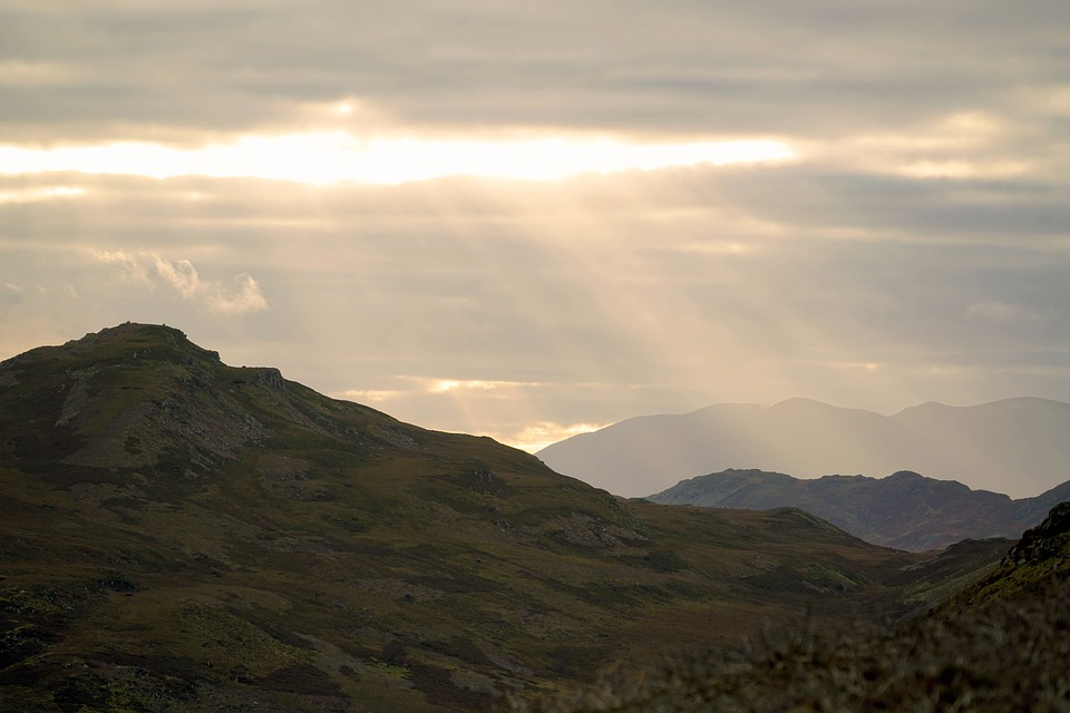 Dusk, Mountain, Sunset, Nature, Sky, Landscape