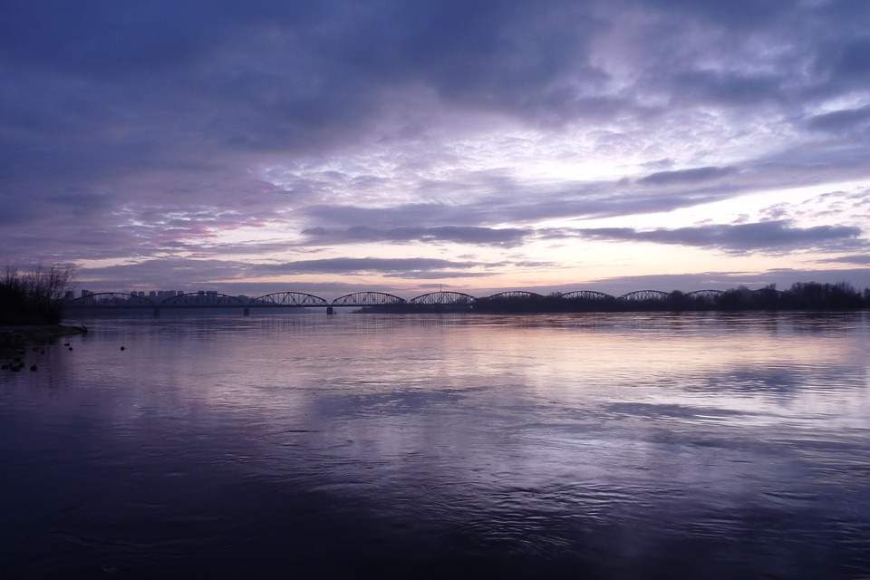 Monolithic Part Of The Waters, Panoramic, Sunset, Sky