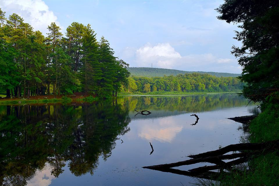 Lake, Sunset, Reflection, Water, Landscape, Sky, Nature