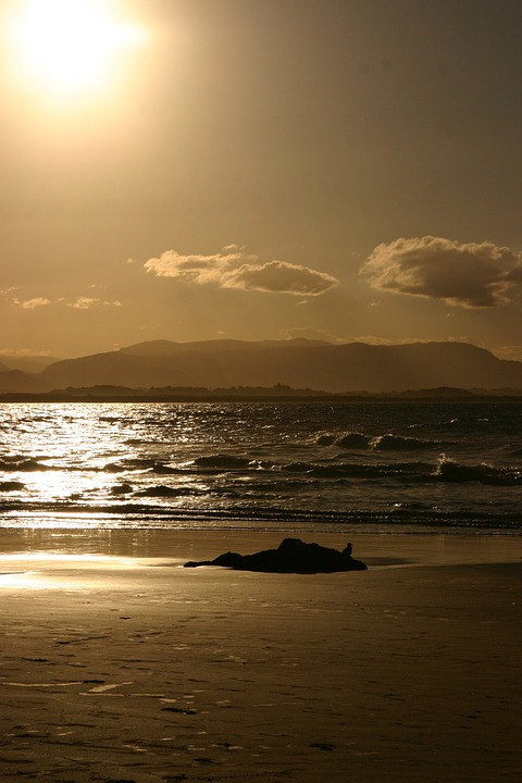 Sunset, Beach Surf, Water, Sea, Surf, Ocean, Sky, Sun