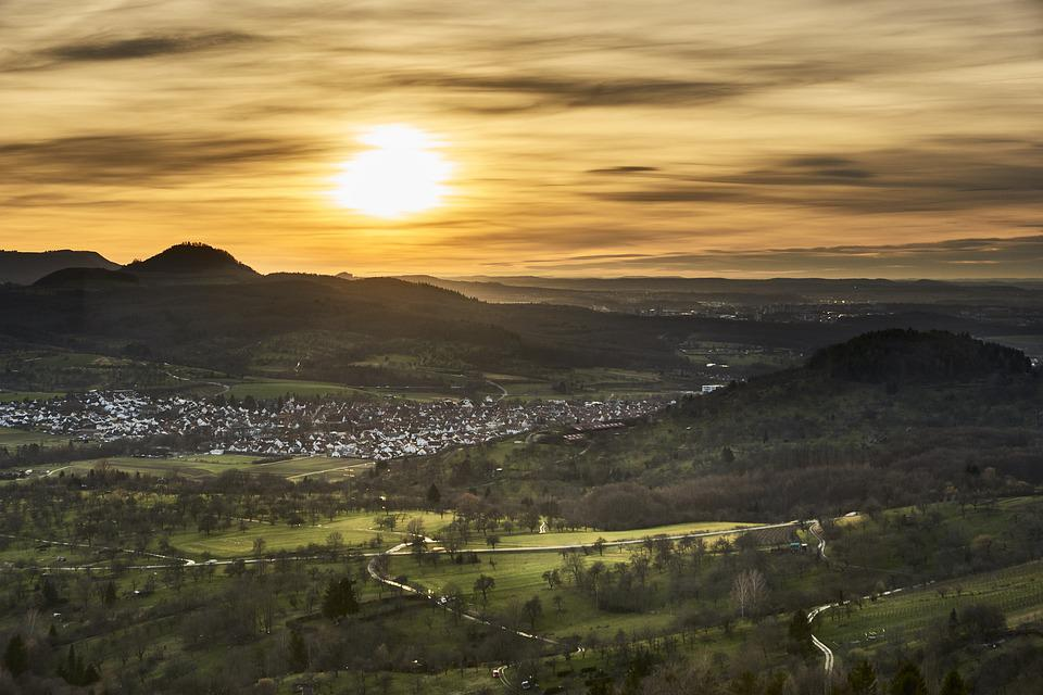 Panorama, Landscape, Nature, Sky, Sunset, Dusk, Scenic