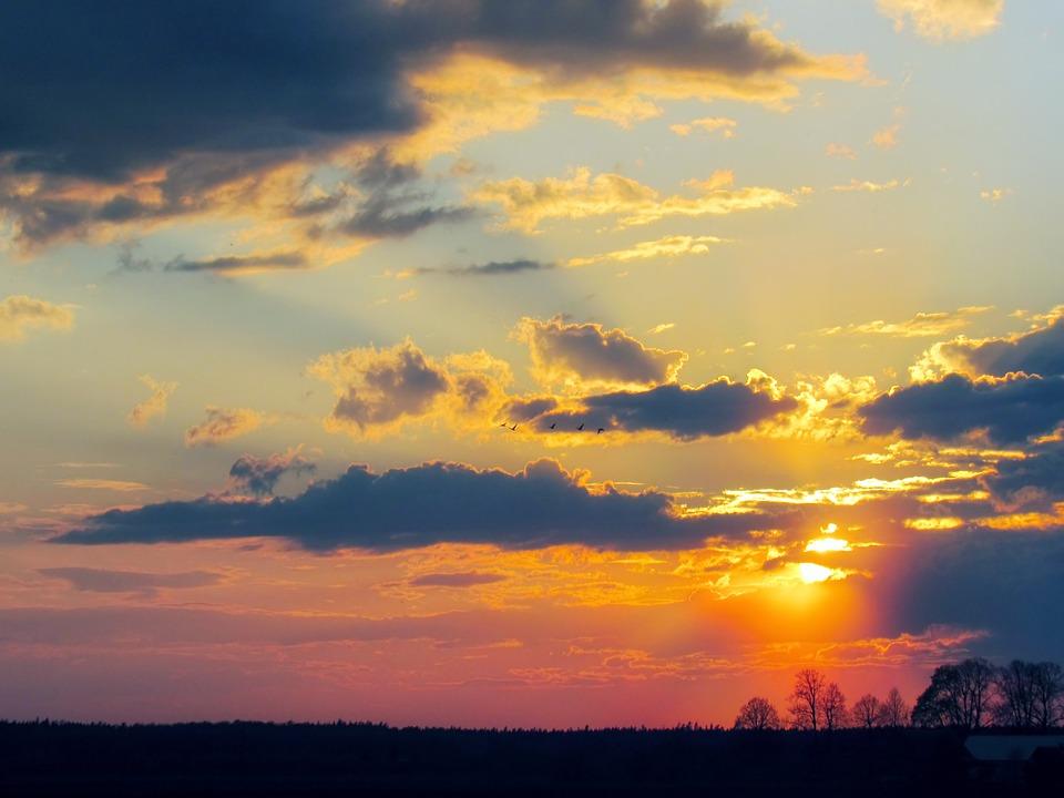 Free Photo Sunset Sky Sky Twilight Sunset Clouds Evening