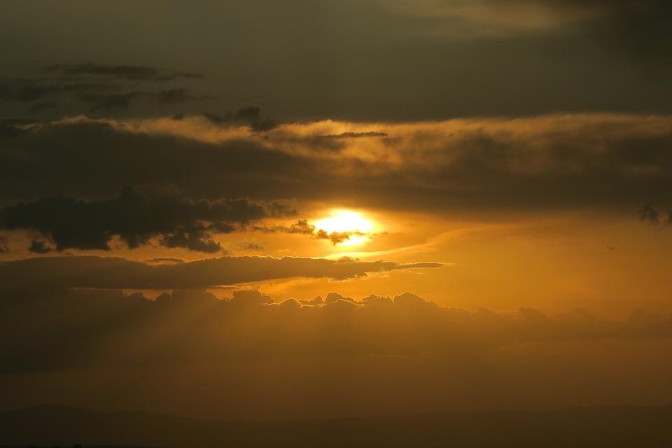 Sunset, Solar, Sky, Nature