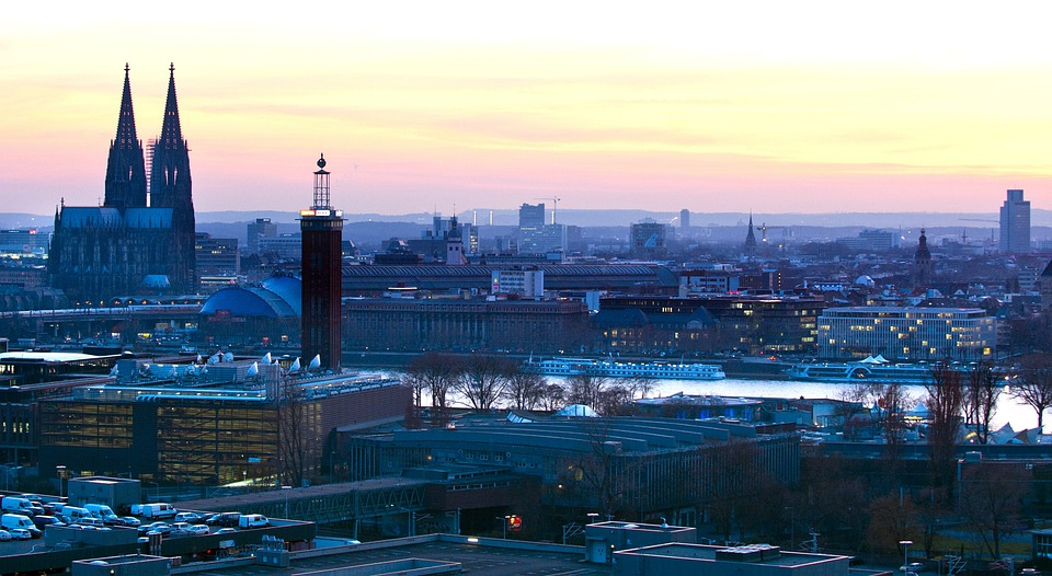 Cologne, Skyline, Dom, Sunset, Mood, City, Romance