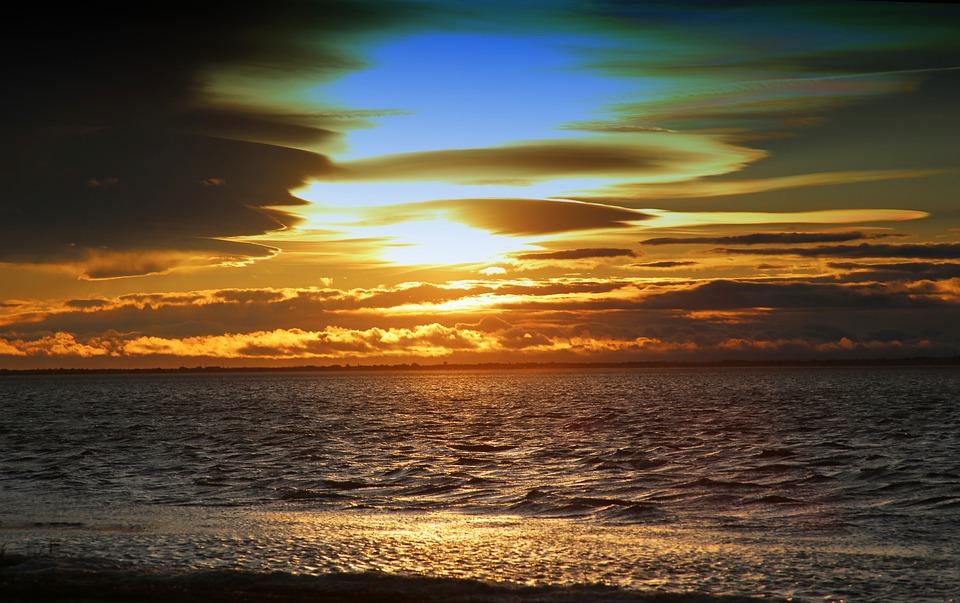 Sunset, Dawn, Twilight, Sun, Body Of Water, Beach