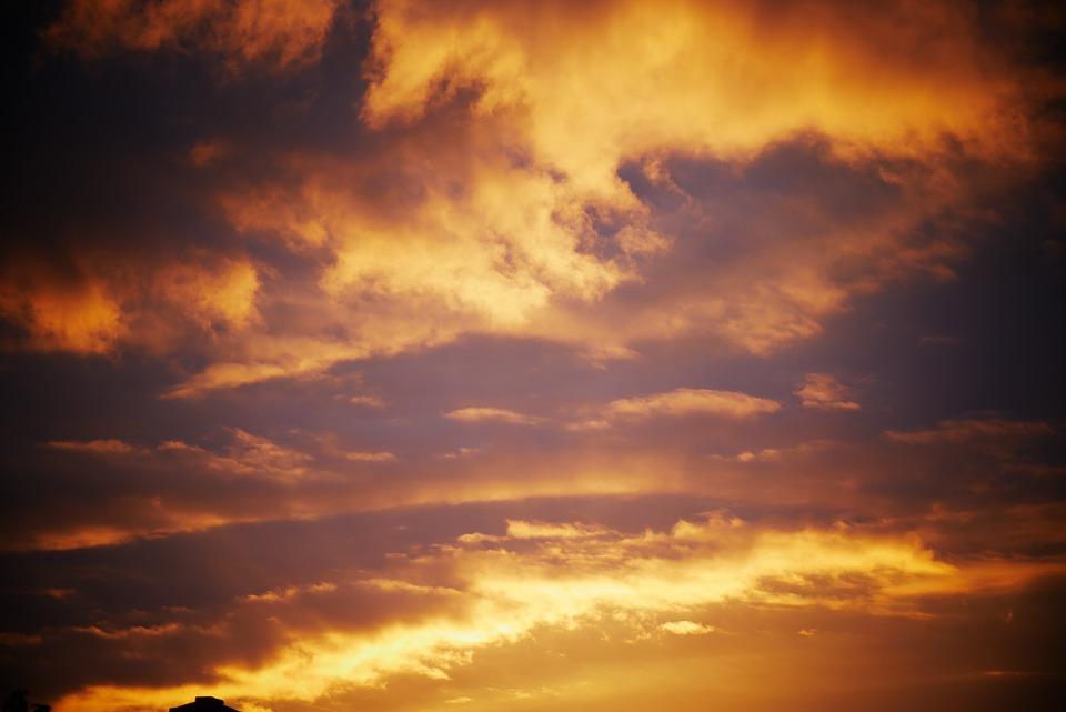 Clouds, Sky, Sunset, Sunrise, Sunlight, Atmosphere