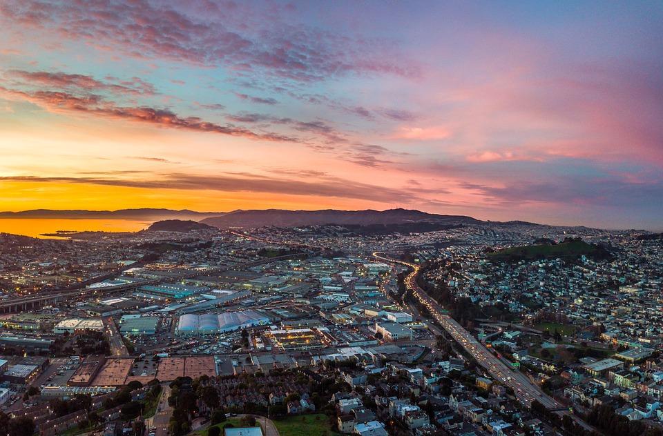 Sunrise, San Francisco, Water, Sunset, Summer, Bay